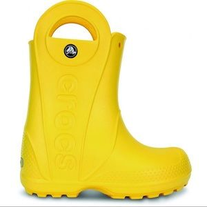 Crocs Yellow Junior Rain Boots Size 3
